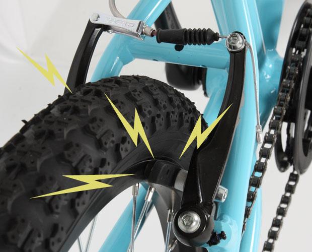 強力ブレーキのイメージ